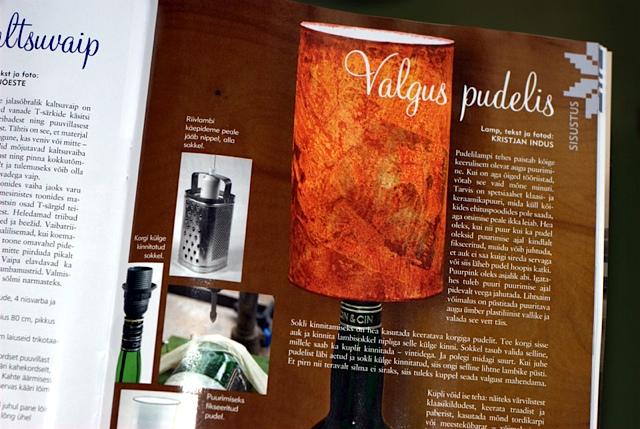 pudelilamp Käsitöö ajakirjas