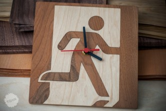 Exitman wall clock