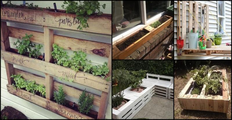 green pallets garden